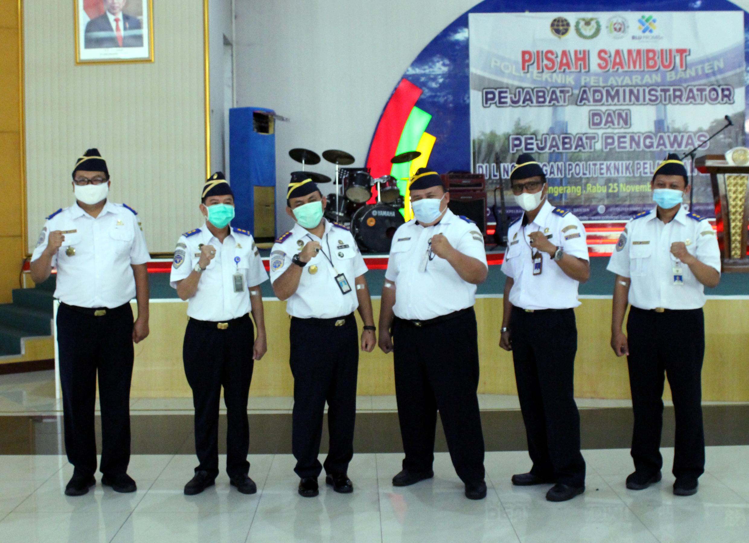 Pisah sambut Pejabat Administrator dan Pejabat Pengawas di lingkungan Politeknik Pelayaran Banten
