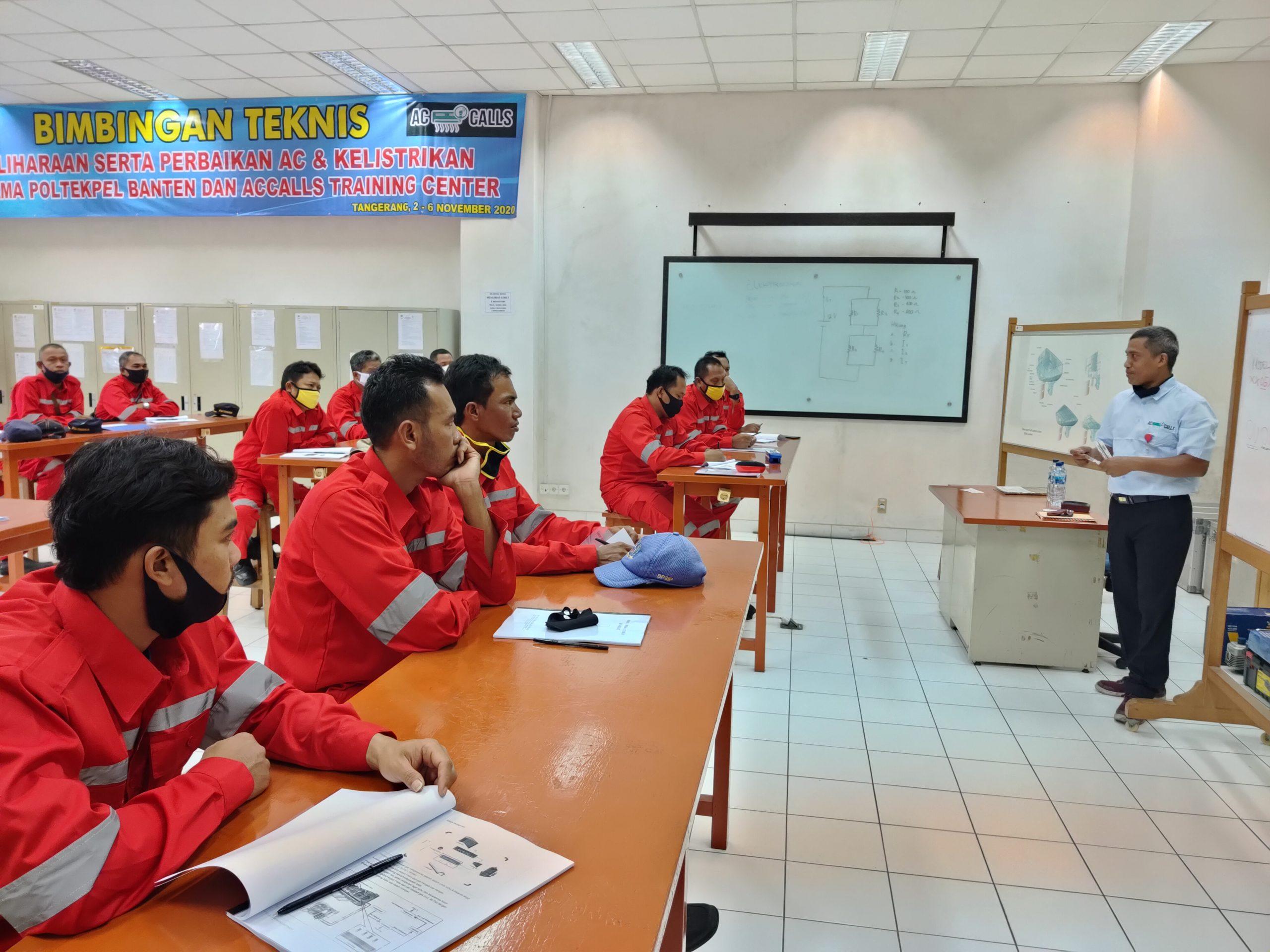 Bimbingan Teknis pemeliharaan dan perbaikan AC. Politeknik Pelayaran Banten 2020
