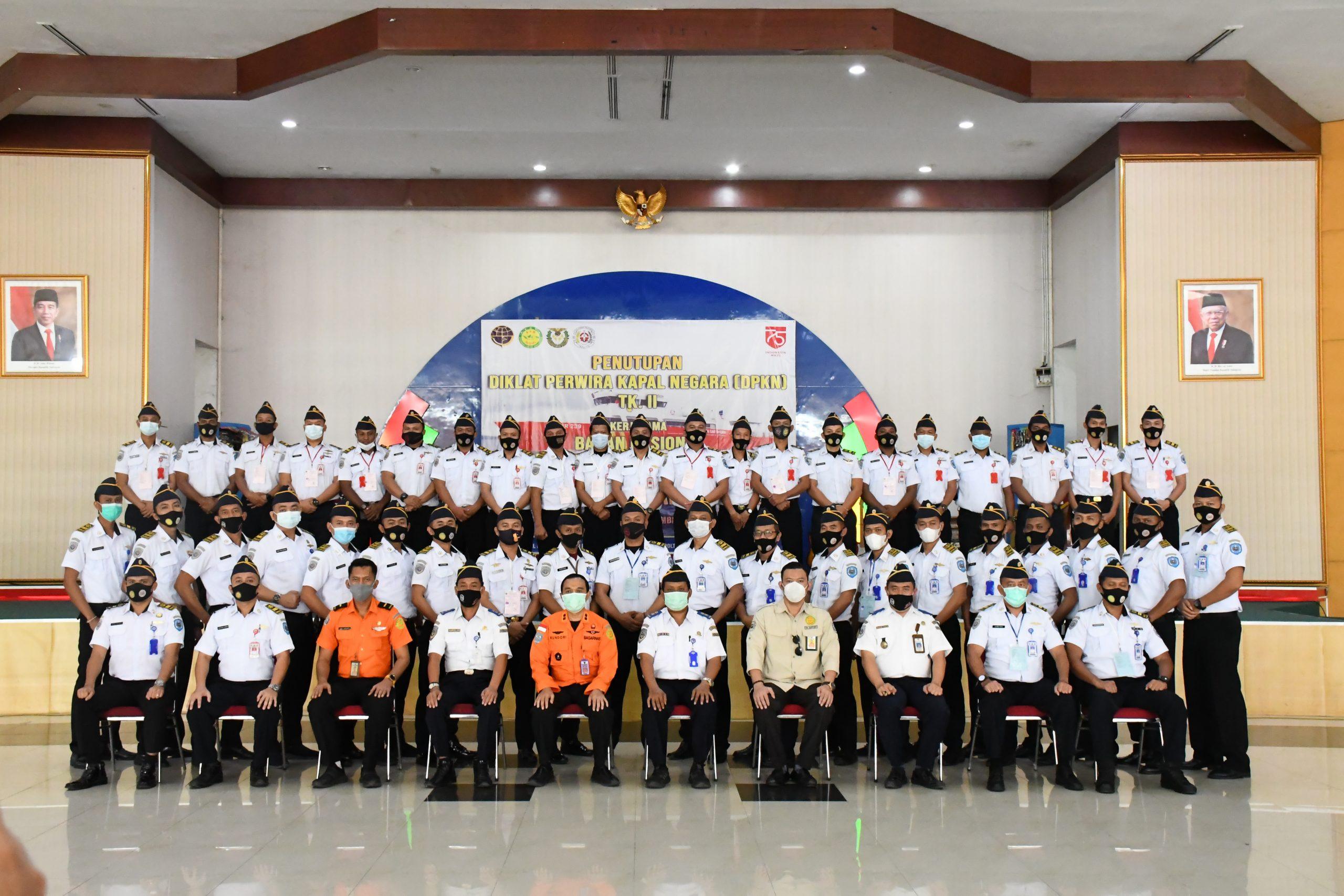 Penutupan Diklat Perwira Kapal Negara (DPKN) Tingkat II Badan Nasional Pencarian dan Pertolongan (BASARNAS)