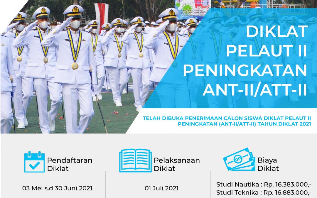 PENERIMAAN CALON SISWA DIKLAT PELAUT II PENINGKATAN (ANT-II/ATT-II) TAHUN DIKLAT 2021